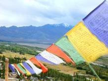 Colourful prayer flags