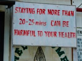 Warning signs at Khardung La