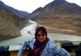 The confluence of Indus and Zanskar