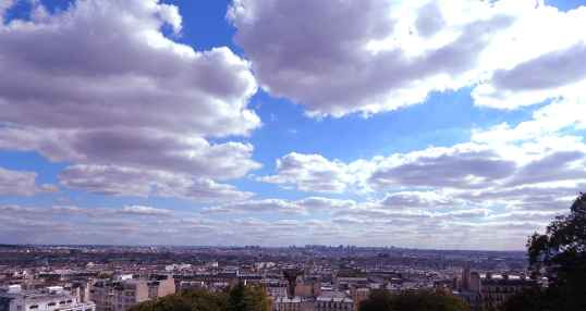 the view from Sacre Couer Basilica